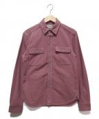 JELADO(ジェラード)の古着「ワークシャツ」 ピンク×グレー