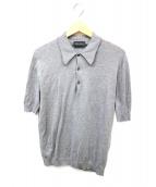 JOHN SMEDLEY(ジョンスメドレー)の古着「シーアイランドコットンポロシャツ」|グレー