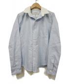 Frank&Eileen(フランクアンドアイリーン)の古着「スキッパーシャツ」|スカイブルー