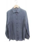 ()の古着「LINENウォッシュシャツ」 ネイビー