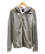 MIHARA YASUHIRO(ミハラヤスヒロ)の古着「ダメージ加工ジップパーカー」|グレー
