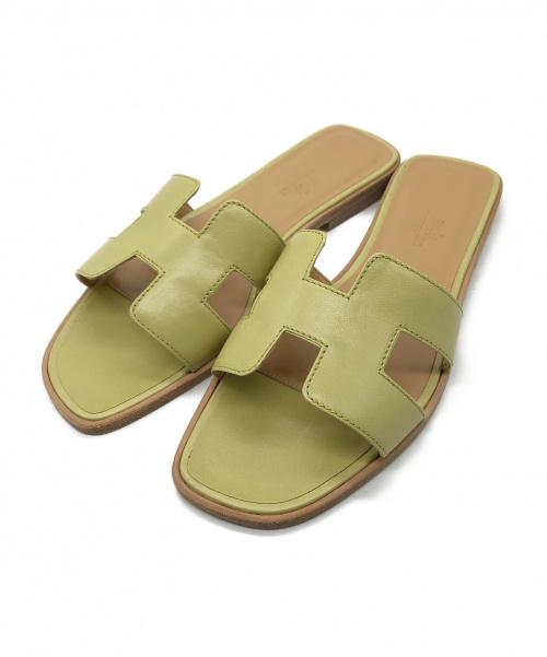 HERMES(エルメス)HERMES (エルメス) Hサンダル ピスタチオグリーン サイズ:37の古着・服飾アイテム