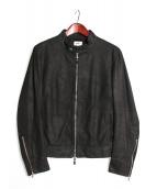 EMMETI(エンメティ)の古着「シングルシープレザージャケット」|ブラック