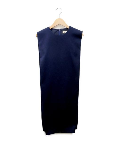 ENFOLD(エンフォルド)ENFOLD (エンフォルド) ノースリーブワンピース ネイビー サイズ:36の古着・服飾アイテム