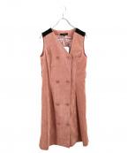 QUEENS COURT(クイーンズコート)の古着「コーデュロイ配色ジャンパースカート」 ピンク