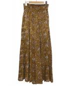 CASA FLINE(カーサフライン)の古着「オリエンタルパターンワイドパンツ」|マスタード
