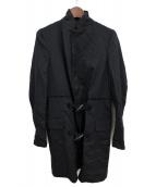 BLACK COMME des GARCONS(ブラックコムデギャルソン)の古着「切替コート」|ブラック