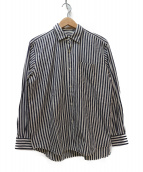 COMOLI(コモリ)の古着「コモリシャツ」 ホワイト×ネイビー