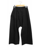 TRAVAIL MANUEL(トラバイユマニュアル)の古着「コンパクトチノシャムパンツ」|ブラック