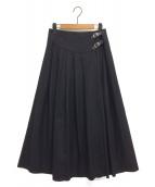 ONEIL OF DUBLIN(オニール オブ ダブリン)の古着「ラップスカート」 ブラック