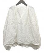 REKISAMI(レキサミ)の古着「エンブロイダリーレースバルーンスリーブブラウス」|ホワイト