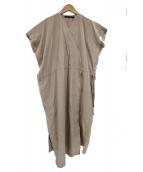 SOFIE DHOORE(ソフィードール)の古着「Vネックノースリーブワンピース」|ベージュ