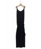 TAN(タン)の古着「ニットサロペットスカート」 ブラック