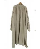 ARGUE(アギュー)の古着「リネンコットンバルーンワンピース」|ベージュ