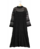 CELFORD(セルフォード)の古着「透かし編みニットワンピース」|ブラック