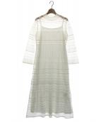 CELFORD(セルフォード)の古着「透かし編みニットワンピース」|ホワイト