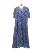 CELFORD(セルフォード)の古着「小花柄プリントワンピース」|ブルー