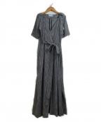 styling/ kei shirahata(スタイリング / ケイ シラハタ)の古着「カシュクールワンピース」 ブラック