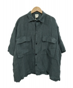 Badhiya(バディーヤ)の古着「リネンシャツ」 グリーン