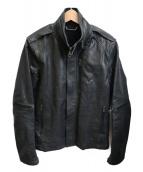 AKM(エイケイエム)の古着「ラムレザージャケット」|ブラック