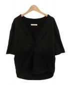 CINOH(チノ)の古着「V-NECK T-SHIRT」|ブラック