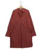 FUMIKA UCHIDA(フミカ ウチダ)の古着「アローストライプロングシャツ」|ブラウン