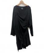 B Yohji Yamamoto(ビーヨウジヤマモト)の古着「ギャザーワンピース」 ブラック
