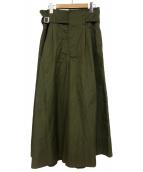 CLANE(クラネ)の古着「スーパーワイドミリタリーパンツ」|オリーブ