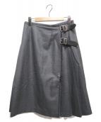 ONEIL OF DUBLIN(オニール オブ ダブリン)の古着「ウールキルトスカート」|グレー