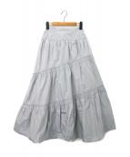 FRAY ID(フレイアイディー)の古着「シャーリングタフタスカート」|ライトブルー