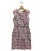 EmiriaWiz(エミリアウィズ)の古着「マリアケントツイードワンピース」|ピンク