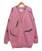 MOSCHINO(モスキーノ)の古着「ニットカーディガン」|ピンク
