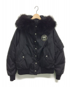 MIU MIU(ミュウミュウ)の古着「ファーフードボンバージャケット」|ブラック