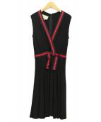 GUCCI(グッチ)の古着「ウェブストライプジャージードレス」|ブラック