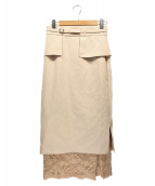 JILL STUART(ジルスチュアート)の古着「グレンダレイヤードペンシルスカート」|ベージュ
