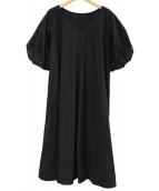 ROPE(ロペ)の古着「袖バルーンバックフレアドレス」|ブラック