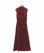 AMERI(アメリ)の古着「SHIRRING LONG DRESS」|テラコッタ