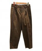 AURALEE(オーラリー)の古着「ウォッシュドフィンクステーパードチノパンツ」|ブラウン