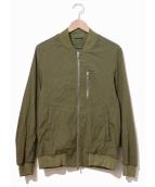 junhashimoto(ジュンハシモト)の古着「リネンストレッチMA-1ジャケット」|カーキ