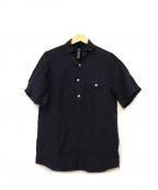 wjk(ダブルジェイケー)の古着「リネンシルクプルオーバーシャツ」|ネイビー