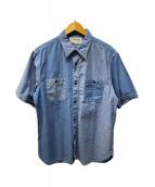 ()の古着「半袖シャツ」|インディゴ