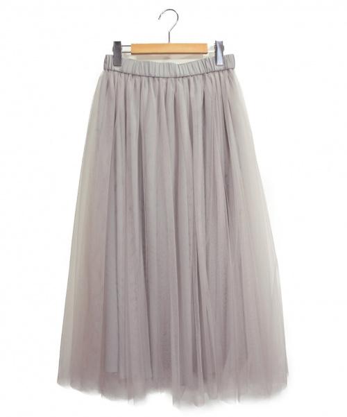 eclat(エクラ)eclat (エクラ) チュールスカート サイズ:38 未使用品の古着・服飾アイテム