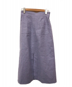 IENA LA BOUCLE(イエナ ラ ブークル)の古着「麻/R前ポケットスカート」|パープル