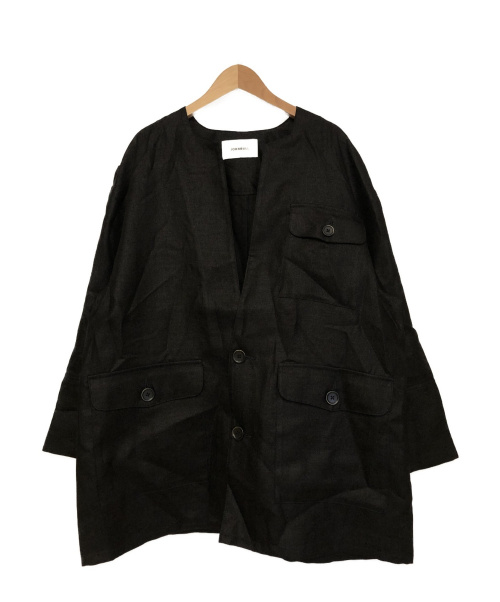 JOHNBULL(ジョンブル)Johnbull (ジョンブル) ノーカーラーサファリジャケット ブラック サイズ:FREEの古着・服飾アイテム