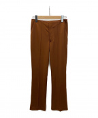 AKTE(アクテ)の古着「セミフレアジャージーパンツ」|ブラウン