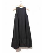 YOKO CHAN(ヨーコチャン)の古着「Aラインフリルワンピース」|ブラック