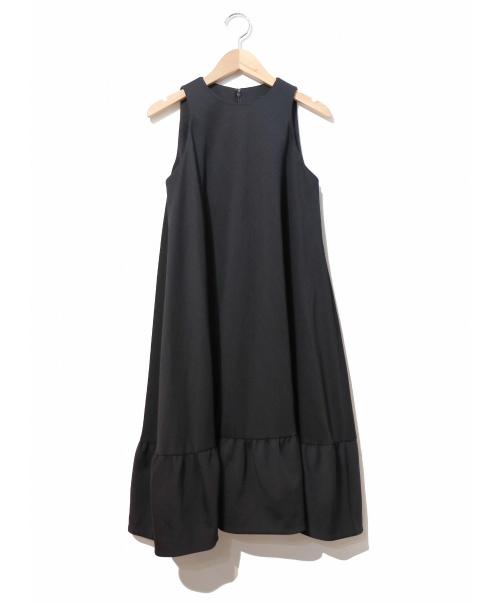 YOKO CHAN(ヨーコチャン)YOKO CHAN (ヨーコチャン) Aラインフリルワンピース ブラック サイズ:38表記の古着・服飾アイテム