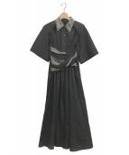 IRENE(アイレネ)の古着「Shortsleeve Shirt Dress」|ブラック
