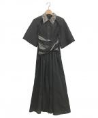 IRENE(アイレネ)の古着「Shortsleeve Shirt Dress」 ブラック