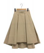 SHE TOKYO(シートーキョー)の古着「チノフレアスカート」|ベージュ